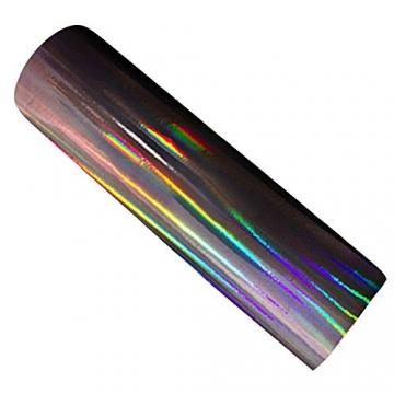 Hoho Auto-Folie, Vinyl, holographisch, Laser, Chrom/Schwarz - 2
