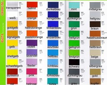 Klebefolie ORACAL ORAFOL HOCHLEISTUNGSFOLIE Plotterfolie Möbelfolie Wunschfarbe 63 x 100cm je Laufmeter (glänzend) - 2